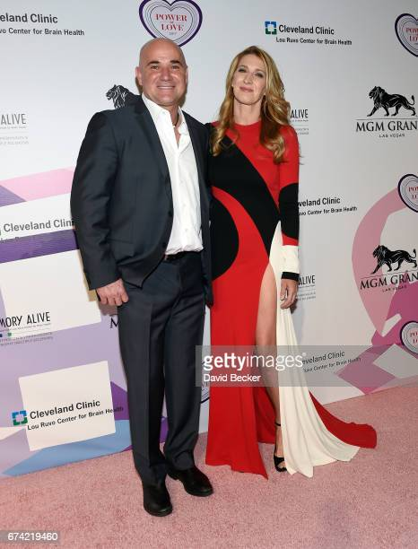Former tennis player Andre Agassi and his wife former tennis player Steffi Graf attend Keep Memory Alive's 21st annual 'Power of Love Gala' benefit...