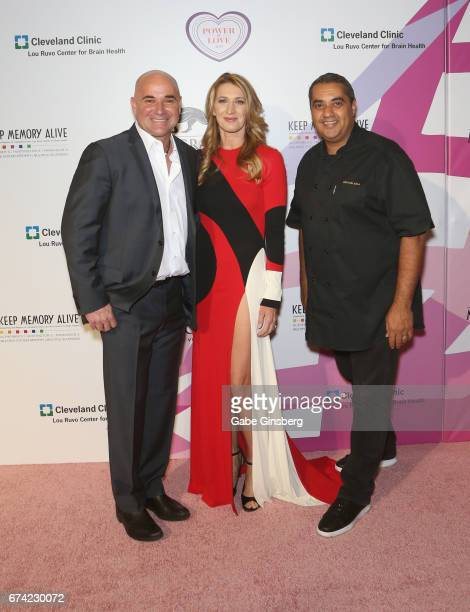 "Former tennis player Andre Agassi and his wife, former tennis player Steffi Graf and chef Michael Mina attend Keep Memory Alive's 21st annual ""Power..."