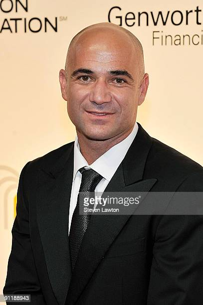 Former tennis player Andre Agassi arrives at the 14th annual Andre Agassi Charitable Foundation's Grand Slam for Children benefit concert at the Wynn...