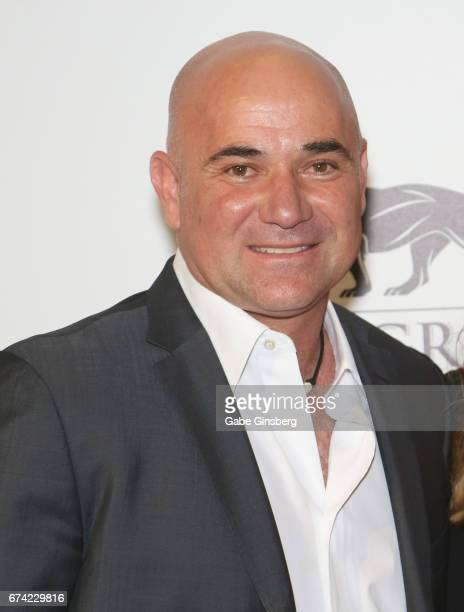 Former tennis player Andre Agassi attends Keep Memory Alive's 21st annual 'Power of Love Gala' benefit for the Cleveland Clinic Lou Ruvo Center for...