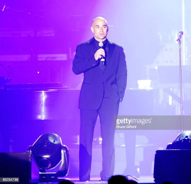 Former tennis player Andre Agassi perform at the 13th annual Andre Agassi Charitable Foundation's Grand Slam for Children benefit concert at the Wynn...