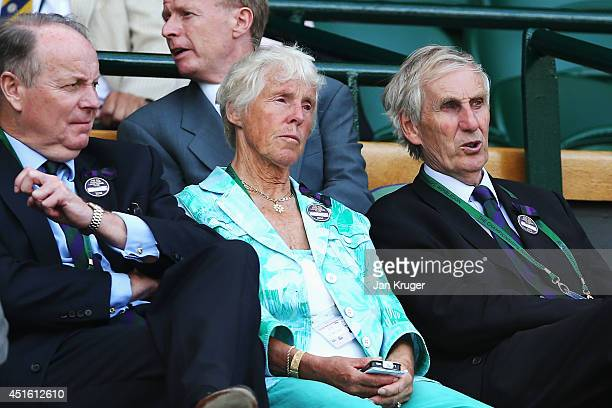 Former tennis player Ann Jones attends day nine of the Wimbledon Lawn Tennis Championships at the All England Lawn Tennis and Croquet Club at...