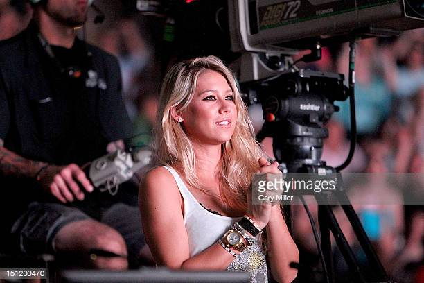 Former tennis player Anna Kournikova attends the Enrique Iglesias concert at the ATT Center on August 23 2012 in San Antonio Texas