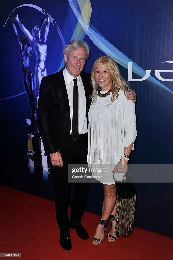 Former tennis player Bjorn Borg and guest attend the 2013 Laureus World Sports Awards at the Theatro Municipal Do Rio de Janeiro on March 11, 2013 in Rio de Janeiro, Brazil.