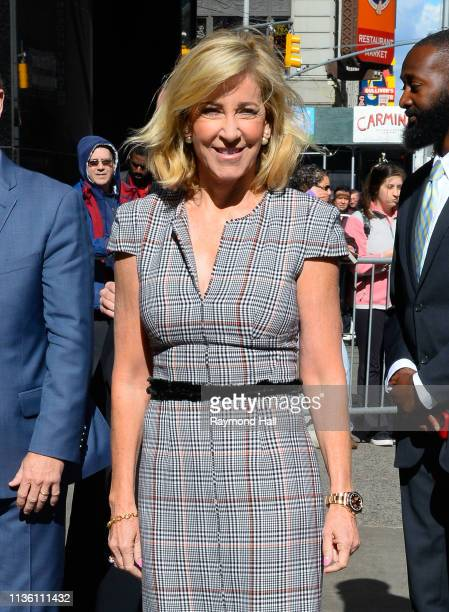 Former tennis player Chris Evert is seen outside good morning america on April 10 2019 in New York City