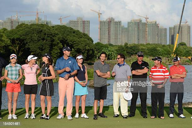 Former tennis player Cindy Lee of Hong Kong golfers LeeAnn Pace of South Africa Paige Mackenzie of the US Matt Kuchar of the US Liebelei Lawrence of...