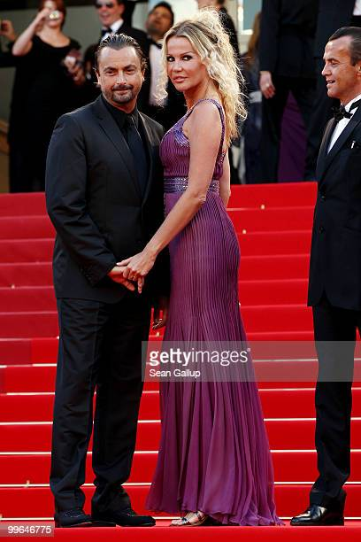 Former tennis player Henri Leconte and wife Florentine Leconte attend Biutiful Premiere at the Palais des Festivals during the 63rd Annual Cannes...