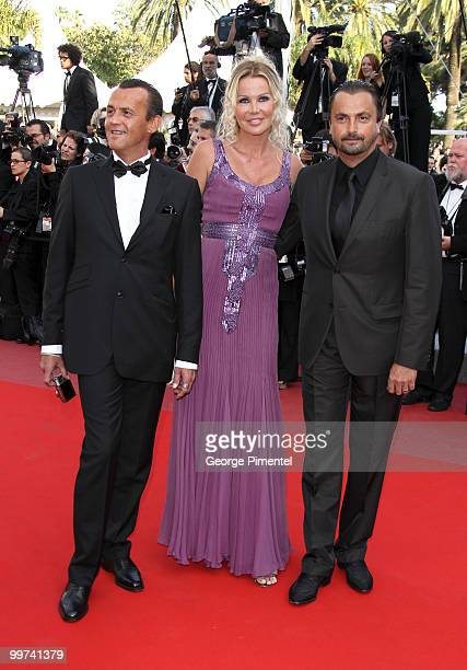Former tennis player Henri Leconte and wife Florentine Leconte attend the premiere of 'Biutiful' held at the Palais des Festivals during the 63rd...