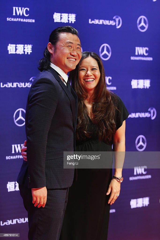 Red Carpet Arrivals - 2015 Laureus World Sports Awards - Shanghai : News Photo