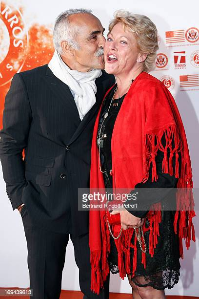 Former Tennis Player Mansour Bahrami and his wife Veronique attend Annual Photocall for Roland Garros Tennis Players at 'Residence De L'Ambassadeur...