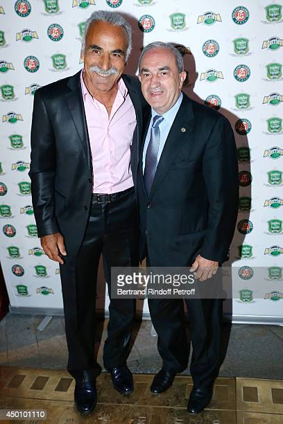 Former tennis player Mansour Bahrami and President of FFT Jean Gachassin attend the Legends of Tennis Dinner Held at Restaurant Fouquet's whyle...