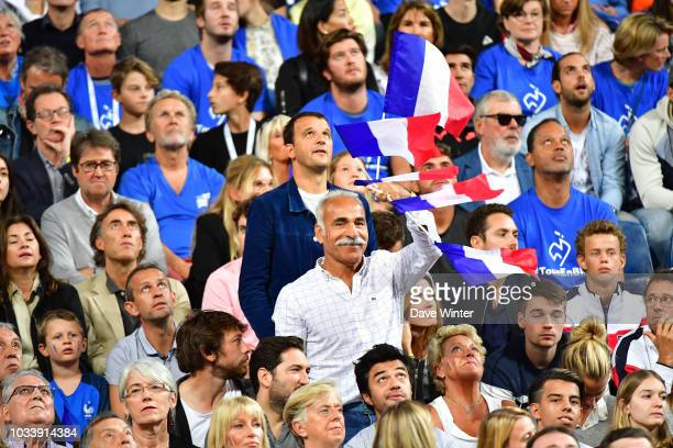 Former tennis player Mansour Bahrami during Day 2 of the Davis Cup semi final on September 15 2018 in Lille France