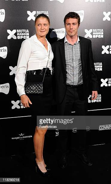 Former tennis player Marat Safin and his sister Dinara Safina arrive to the Mutua Madrid Open 2011 gala dinner at the Palacio de Cibeles on April 30...