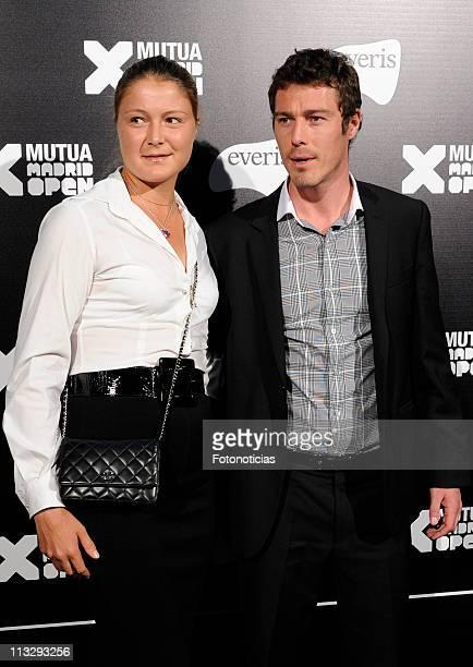 Former tennis player Marat Safin and his sister Dinara Safina arrive to the Mutua Madrid Open 2011 gala dinner at the Palacio de Cibeles on April 30,...