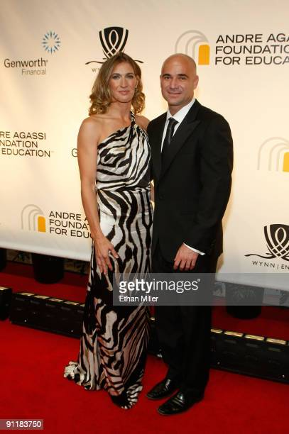 Former tennis player Stefanie Graf and former tennis player Andre Agassi arrive at the 14th annual Andre Agassi Charitable Foundation's Grand Slam...