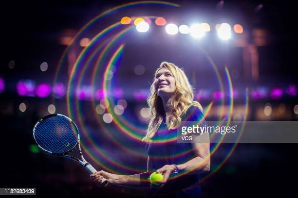 Former tennis player Steffi Graf attends opening ceremony on Day one of 2019 WTA Elite Trophy Zhuhai at Zhuhai Hengqin International Tennis Centre on...