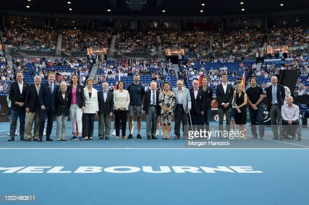 Former tennis players including Pam Shriver Margaret Court Conchita Martinez Goran Ivanišević Rod Laver Evonne Goolagong Lindsay Davenport Marat...