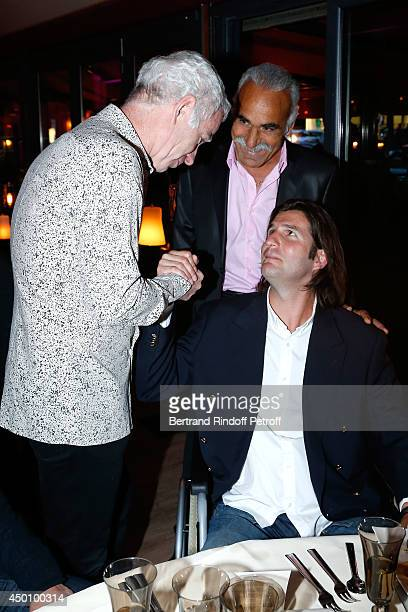 Former tennis players John McEnroe Mansour Bahrami and Jerome Golmard attend the Legends of Tennis Dinner Held at Restaurant Fouquet's whyle Roland...