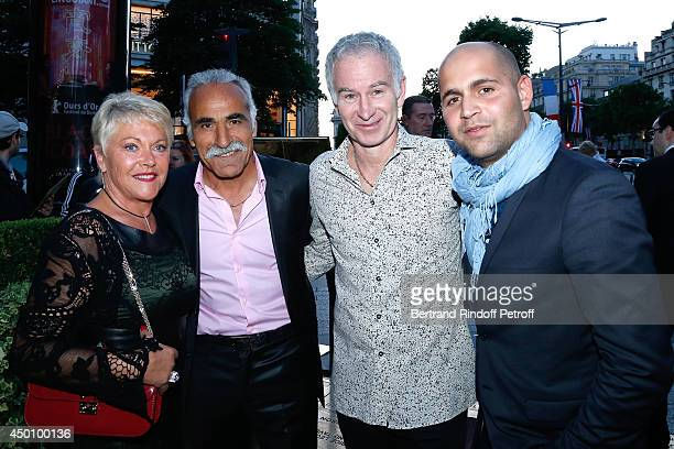 Former tennis players John McEnroe with Mansour Bahrami his wife Frederique and their son Sam attend the Legends of Tennis Dinner Held at Restaurant...