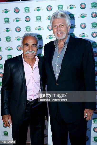 Former tennis players Mansour Bahrami and JeanNoel Grindat attend the Legends of Tennis Dinner Held at Restaurant Fouquet's whyle Roland Garros...