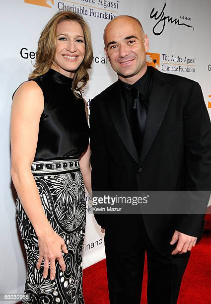 Former Tennis players Steffi Graf and Andre Agassi arrive at the 13th Annual Andre Agassi Charitable Foundation's Grand Slam for Children benefit...