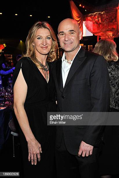 Former tennis players Steffi Graff and Andre Agassi attend the Keep Memory Alive foundation's 'Power of Love Gala' celebrating Muhammad Ali's 70th...