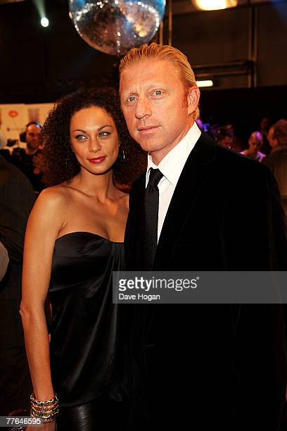 Former Tennis star Boris Becker and Sharlely Kerssenberg arrive at the MTV Europe Music Awards 2007 at the Olympiahalle on November 1, 2007 in...