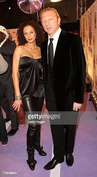 Former Tennis star Boris Becker and Sharlely Kerssenberg arrive at the MTV Europe Music Awards 2007 at the Olympiahalle on November 1 2007 in Munich...