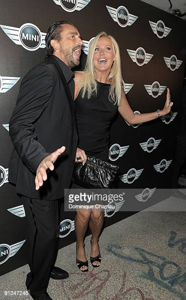 Former tennisman Henri Leconte and his wife Florentine Leconte attend the Mini Austin 50th Anniversary party at Piscine Molitor on September 29 2009...