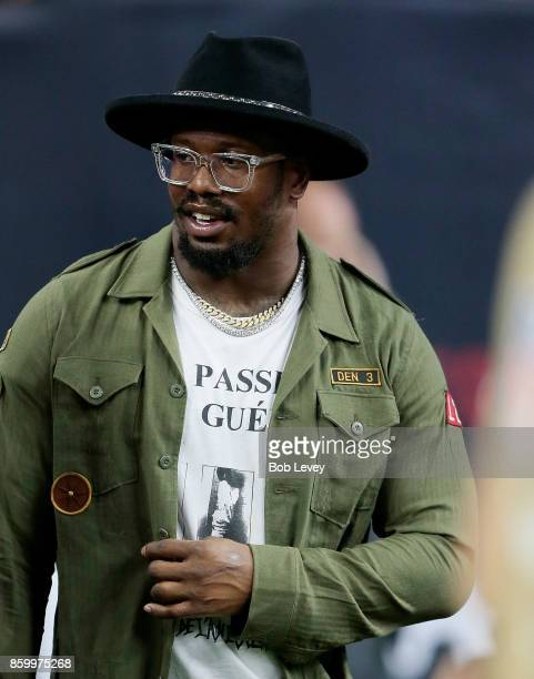 Former Texas AM Aggie and current Denver Bronco Von Miller in attendance for the Houston Texans v Kansas City Chiefs at NRG Stadium on October 8 2017...