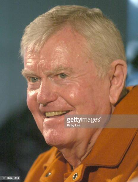 Former Texas coach Darrell Royal at 2005 Rose Bowl Media Day at the Home Depot Center in Carson, Calif. On Thursday, Dec. 30, 2004. Royal, who...