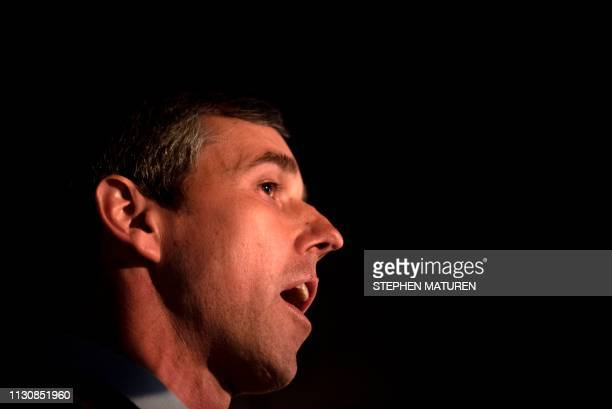 Former Texas Congressman and Democratic party presidential candidate Beto O'Rourke speaks to diners at The Pig Porter restaurant in Cedar Rapids Iowa...