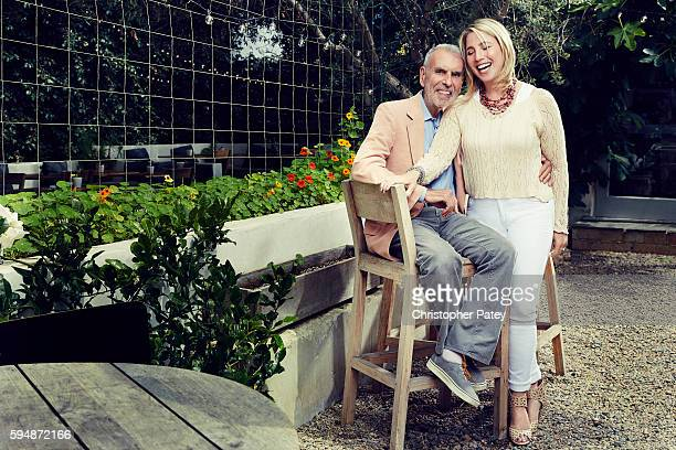 Former Time Warner Chairman/CEO Jerry Levin and his wife Dr. Laurie Levin are photographed for The Hollywood Reporter on June 14, 2016 in Venice,...