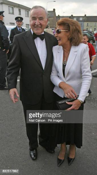 Former Tioseach Albert Reynolds and his wife Kathleen arrive for the wedding of River Dance star Michael Flatley and dancer Niamh O'Brien at St...