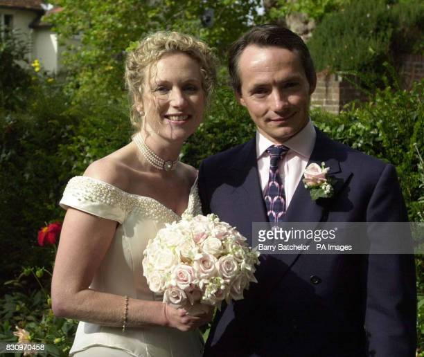 Former top jockey Walter Swinburn with his bride Alison Palmer at the Roman Catholic Church of Our Lady St John in Goring on Thames