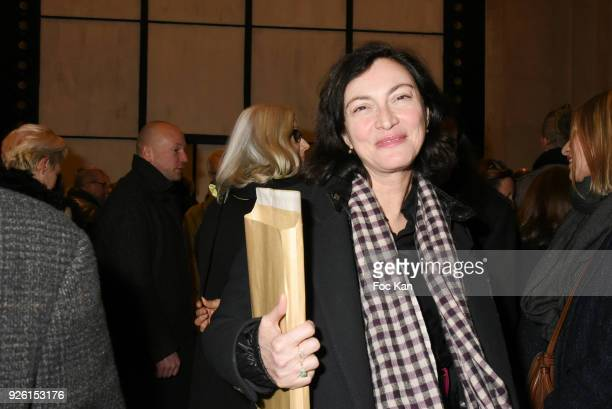 Former top model Anne Rohart attends the 'Margiela/ Galliera 19892009 Exhibition' As part of the Paris Fashion Week Womenswear Fall/Winter 2018/2019...