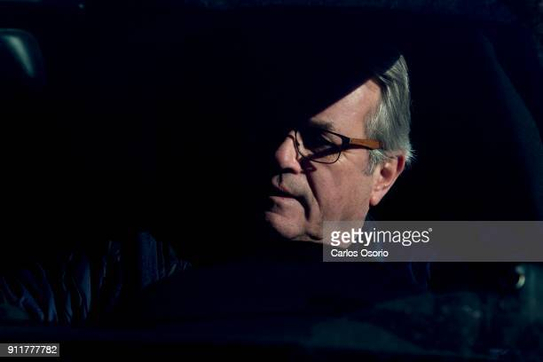 TORONTO ON JANUARY 26 Former Toronto police Det Maritn Woodhouse in his car outside the Sherman home Friday morning Toronto police released the home...