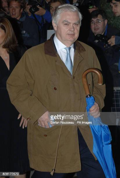 Former Tory Chancellor Norman Lamont arrives at the Mandarin Oriental Hotel Knightsbridge for the 80th birthday party of former Tory Prime Minister...