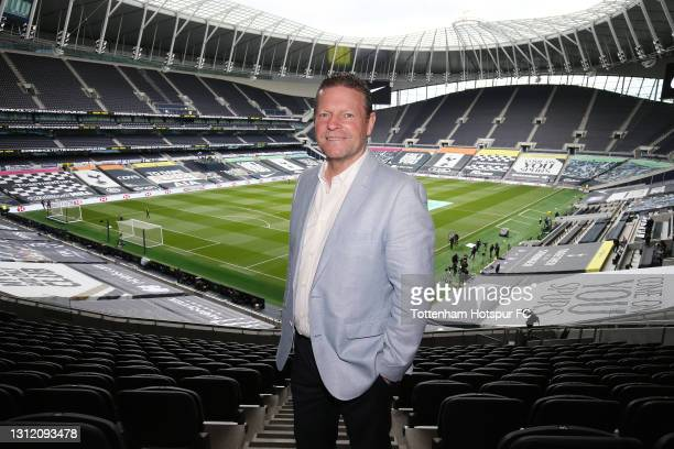 Former Tottenham Hotspur player Micky Hazard during the Premier League match between Tottenham Hotspur and Manchester United at Tottenham Hotspur...
