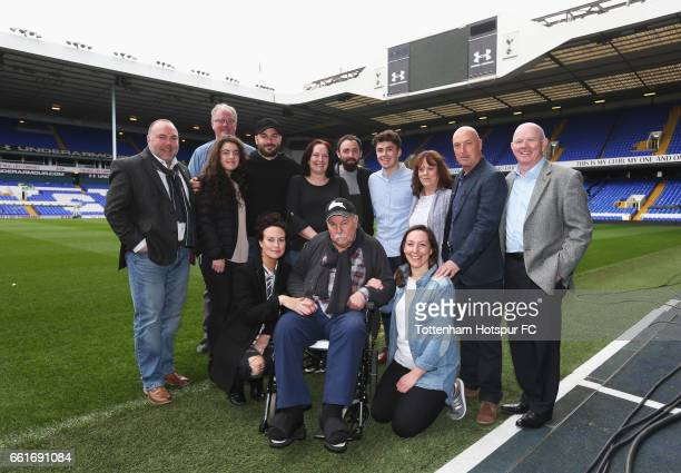 Former Tottenham player Jimmy Greaves at White Hart Lane on March 31 2017 in London England