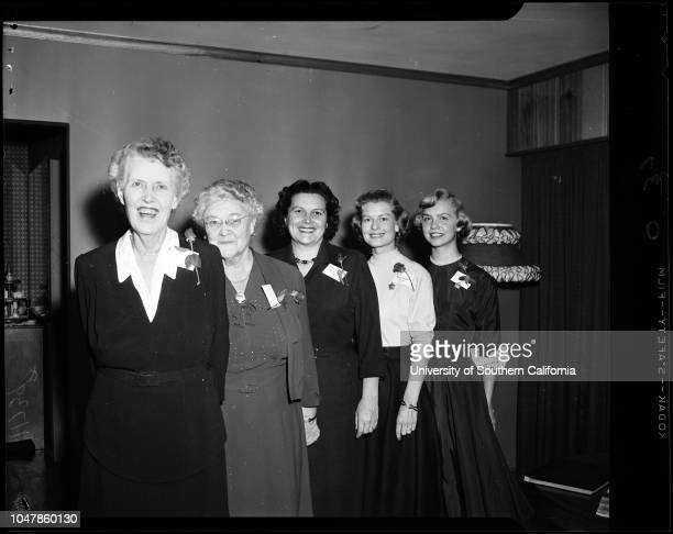 Former Tournament of Roses Queens 24 February 1956 Hallie Woods McConnel May Scoville Muriel Cowan Moore Norma Christopher Winton Joan Culver Barbara...