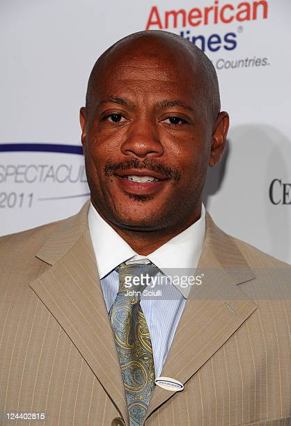 Former track and field sprinter Maurice Greene arrives at the 2011 Cedars Sinai Sports Spectacular at Hyatt Regency Century Plaza on May 22 2011 in...