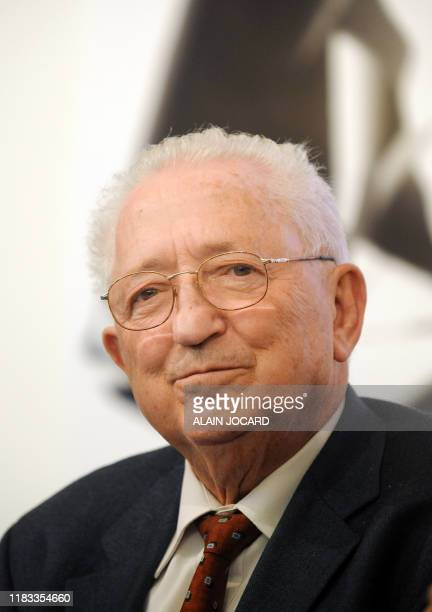 Former trade union leader Edmond Maire attends a meeting with failed socialist presidential candidate Segolene Royal on November 24, 2008 in...