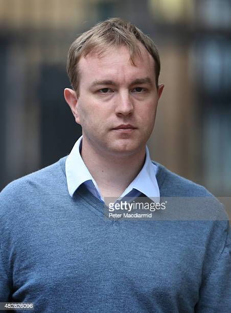 Former trader Tom Hayes arrives at Southwark Crown Court on August 3 2015 in London England Mr Hayes a former UBS and Citigroup trader has pleaded...