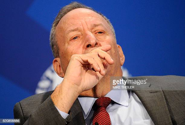 Former Treasury Secretary and current Harvard Professor Larry Summers listens to remarks during a discussion on low-income developing countries at...
