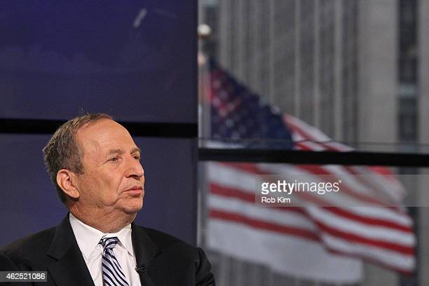 Former Treasury Secretary Larry Summers visits FOX Business Network at FOX Studios on January 30 2015 in New York City