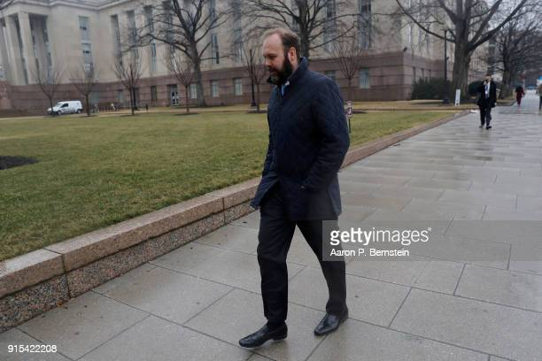 Former Trump Aide Rick Gates attends a hearing on his fraud conspiracy and moneylaundering at the E Barrett Prettyman United States Courthouse on...