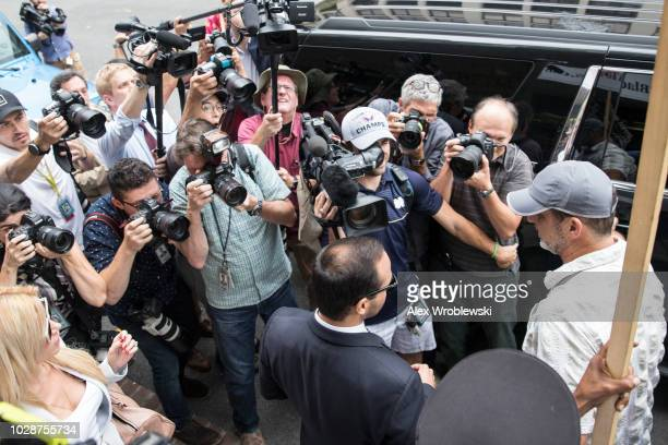 Former Trump Campaign aide George Papadopoulos leaves the US District Court after his sentencing hearing on September 7 2018 in Washington DC...