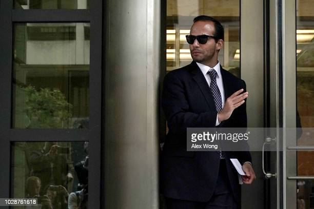 Former Trump Campaign aide George Papadopoulos leaves the US District Court after his sentencing hearing September 7 2018 in Washington DC...