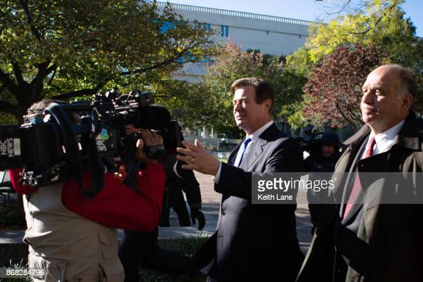 Former Trump campaign chairman Paul Manafort leaves federal court October 30 2017 in Washington DC Paul Manafort and Rick Gates have been indicted by...